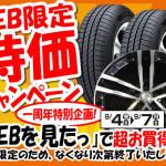 WEB限定特価キャンペーン!