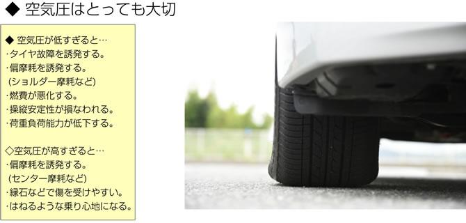 タイヤを長持ちさせるコツ